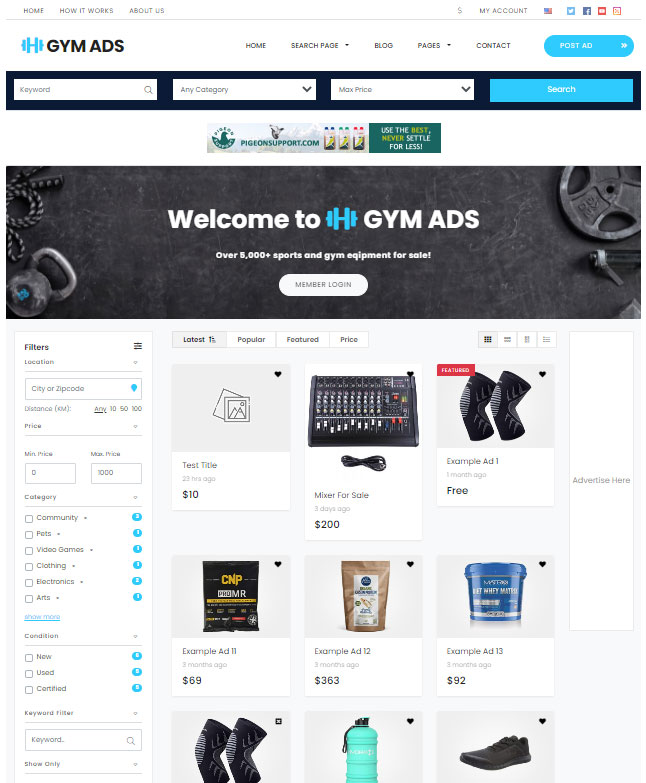 classifieds theme for elementor